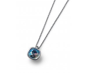 Colier cu cristale Swarovski Oliver Weber Royal simple blue